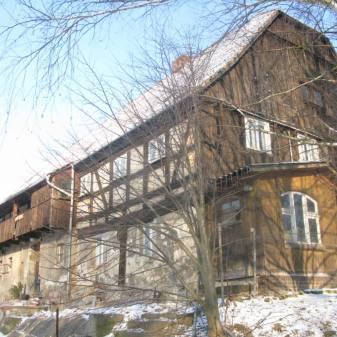 Fachwerkhaus im Winter
